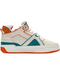 Just Don Tennis Courtside Mid Leather Trainers - Multicolour