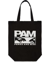 """P.a.m. Perks And Mini Tote Aus Baumwolle """"xperience Classic"""" - Schwarz"""