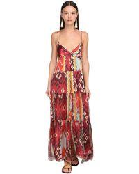 Forte Forte Длинное Платье С Принтом - Красный