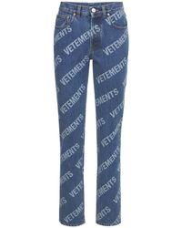 Vetements All-over Logo Cotton - Blue
