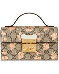 Gucci Mini Bag Padlock Gg トップハンドルバッグ - マルチカラー