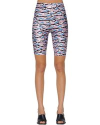 AALTO Shorts In Jersey Stretch - Blu