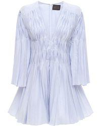 Giovanni bedin Minikleid Aus Seidenmischung - Blau