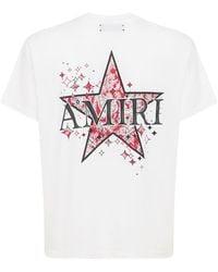Amiri Paisley Star コットンジャージーtシャツ - ホワイト