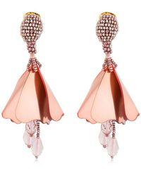 Oscar de la Renta Small Impatiens Earrings - Multicolour