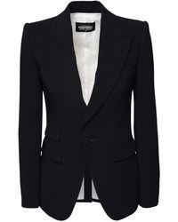 DSquared² ストレッチビスコースクレープスーツ - ブラック