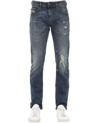 "DIESEL Jeans De Denim De Algodón ""Thommer"" - Azul"