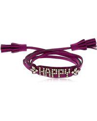 Shourouk - Blabla Alcantara Bracelet - Lyst