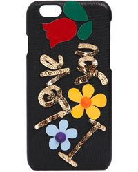 Dolce & Gabbana - I Love You Embellished Iphone 6 Case - Lyst
