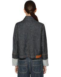 Loewe コットンデニムクロップドジャケット - ブルー