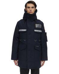 Junya Watanabe Canada Goose Tech Down Jacket - Blau