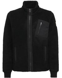 Belstaff Herne フリースジップスウェットシャツ - ブラック