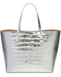 """Givenchy Borsa Shopping """"wing"""" In Pelle Stampata - Metallizzato"""