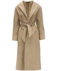 Kwaidan Editions Belted Cotton Blend Trench Coat - Естественный