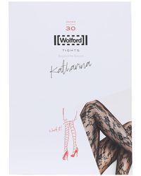 "Wolford Collants En Dentelle ""Katharina"" - Noir"