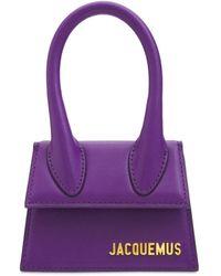 Jacquemus Le Chiquito レザートップハンドルバッグ - パープル