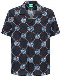 Lacoste Chinatown Market コットンポプリンシャツ - ブラック