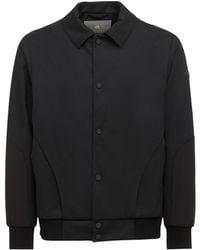 Lardini Yosuke Aizawa テック素材&ウールシャツジャケット - ブラック