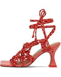 Miista 80mm Stephanie Woven Sandals - Red