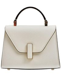 Valextra Micro Iside Grained Leather Bag - Natural