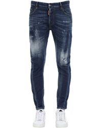 DSquared² Jeans De Denim Con Pintura 17Cm - Azul