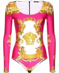 Versace - Baroque ボディスーツ - Lyst