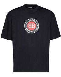Balenciaga - コットンジャージーtシャツ - Lyst