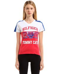 Tommy Hilfiger Hilfiger Tomcats コットンtシャツ - レッド