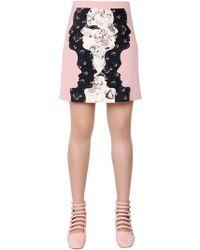 Vivetta - Silhouette Patchwork Wool Toile Skirt - Lyst