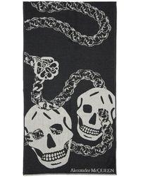 Alexander McQueen - Skull ジャカードウールストール - Lyst