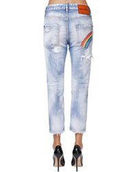 DSquared² Cool Girl Cropped Denim Jeans - Blue