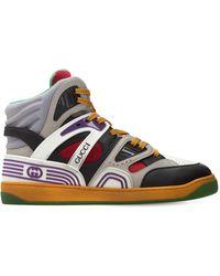 Gucci 25mm Basket High-top Sneakers - Многоцветный