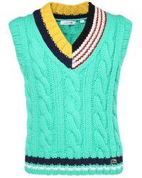 Lacoste Logo Detail Wool Knit Sweater Vest - Green