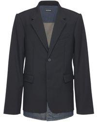 Balenciaga Jacke Aus Wollmischung - Schwarz