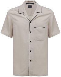 Ksubi Downtown Resort ビスコースブレンドシャツ - ホワイト