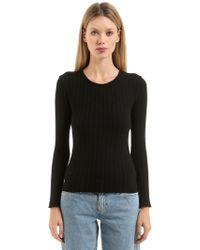Simon Miller | Ribbed Crewneck Sweater | Lyst