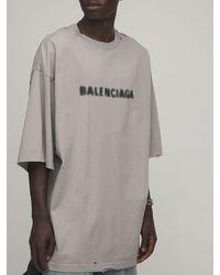 Balenciaga Хлопковая Майка С Принтом - Серый