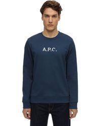 A.P.C. コットンスウェットシャツ - ブルー