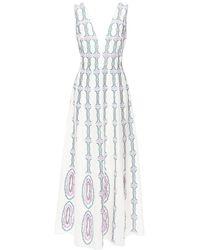 Le Sirenuse Nellie コットンドレス - ホワイト