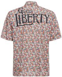 Gucci Camicia Bowling In Cotone Stampato - Multicolore