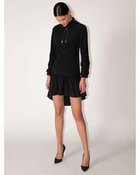 COACH Платье-рубашка Из Вискозы И Шелка - Черный