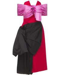 Prada - Kleid Aus Duchesse Und Gabardine - Lyst