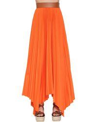 Loewe コットンツイル ハイウェストプリーツスカート - オレンジ