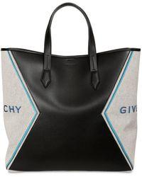 Givenchy Logo Print Cotton Poly Tote Bag - Black