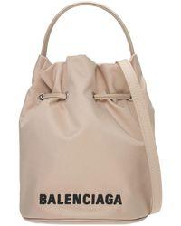 Balenciaga Sac Seau En Tissu Technique Recyclé - Neutre