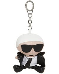 Karl Lagerfeld K/Ikonik Karl Doll Keychain Black - Schwarz