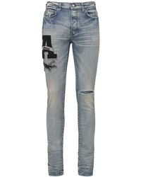 Amiri Jeans De Denim Con Parches - Azul