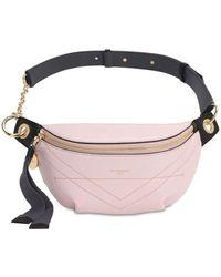 Givenchy クラックルレザーベルトバッグ - ピンク