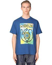 Loewe Eye//nature コットンジャージーtシャツ - ブルー