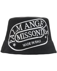 Palm Angels Missoni エディション ブラック & ホワイト Heritage バケット ハット